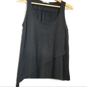 Zara black asymmetric tank - Size M